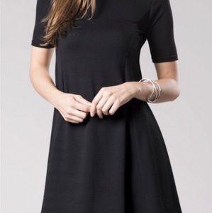 TOPSHOP black flare dress